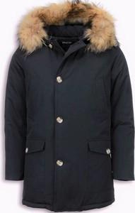 Czarna kurtka ENOS długa