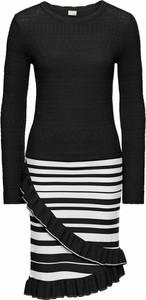 Sukienka bonprix bodyflirt boutique na co dzień z długim rękawem w stylu casual