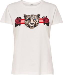 Bluzka JACQUELINE DE YONG w street stylu z okrągłym dekoltem