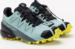 Buty trekkingowe Salomon sznurowane z płaską podeszwą