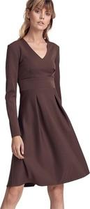 Sukienka Colett z długim rękawem z dekoltem w kształcie litery v