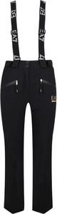Czarne spodnie sportowe EA7 Emporio Armani w stylu casual