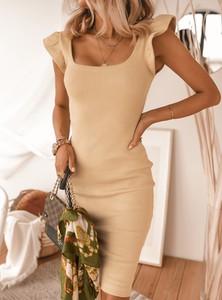 Sukienka SELFIEROOM bez rękawów z bawełny w stylu casual
