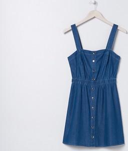 Granatowa sukienka Sinsay z jeansu