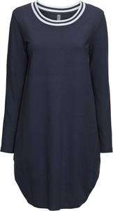 Niebieska sukienka bonprix RAINBOW z długim rękawem oversize z okrągłym dekoltem