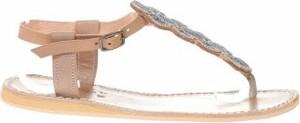 Sandały Laidback London z płaską podeszwą ze skóry w stylu casual