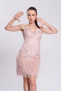 Sukienka Semper z dekoltem w kształcie litery v z tkaniny