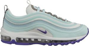 Niebieskie buty sportowe Nike sznurowane ze skóry w sportowym stylu
