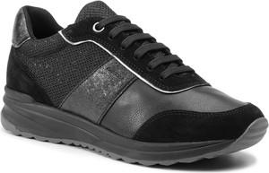 Czarne buty sportowe Geox sznurowane