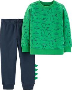 Zielona bluza dziecięca Carter's z bawełny