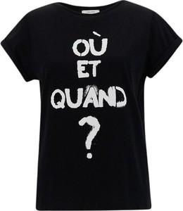 T-shirt iBlues z krótkim rękawem z okrągłym dekoltem w młodzieżowym stylu