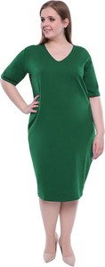 Sukienka modneduzerozmiary.pl oversize midi z długim rękawem