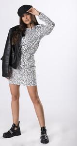 Sukienka Ptakmoda.com mini z tkaniny z długim rękawem