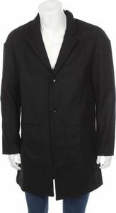 Czarny płaszcz męski Kiomi