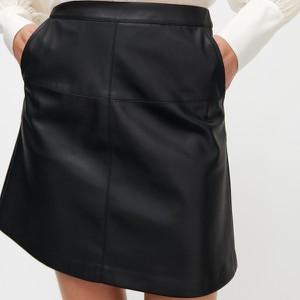 Czarna spódnica Reserved ze skóry