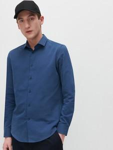 Niebieska koszula Reserved w stylu casual z długim rękawem