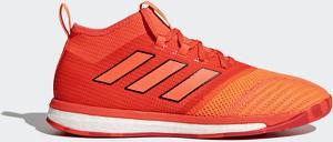Pomarańczowe buty sportowe Adidas sznurowane w sportowym stylu