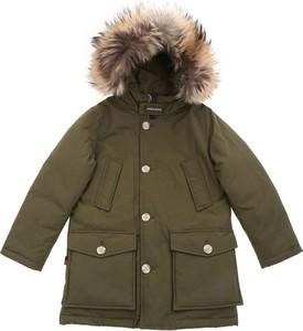 Zielona kurtka dziecięca Woolrich dla chłopców