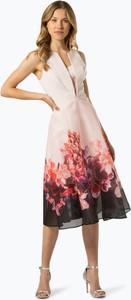 Różowa sukienka Coast rozkloszowana z dekoltem w kształcie litery v bez rękawów