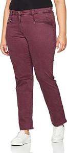 Bordowe spodnie ulla popken