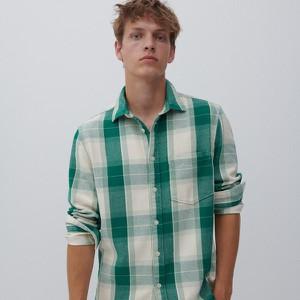 Zielona koszula Reserved z długim rękawem w stylu casual z klasycznym kołnierzykiem