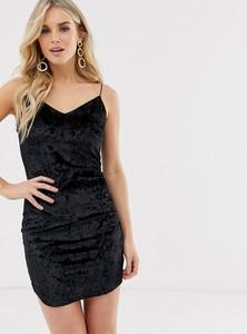 Czarna sukienka Ax Paris na ramiączkach z dekoltem w kształcie litery v mini