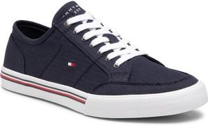 Tommy Hilfiger Tenisówki Core Corporate Textile Sneaker FM0FM03390 Granatowy