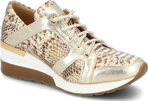 A.j.f buty sportowe damskie młodzieżowe złote sznurowane na