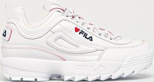Buty sportowe Fila na platformie disruptor ze skóry ekologicznej