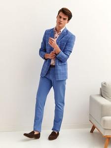 Niebieskie chinosy Top Secret z tkaniny