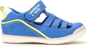 Niebieskie buty dziecięce letnie American Club na rzepy