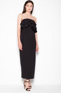 Czarna sukienka sukienki.pl bez rękawów