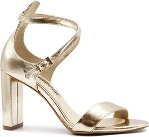 Złote sandały Neścior ze skóry