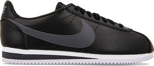 Czarne buty sportowe Nike sznurowane cortez ze skóry