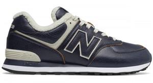 Buty zimowe New Balance ze skóry w sportowym stylu