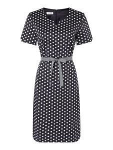 Sukienka Gerry Weber z bawełny z krótkim rękawem