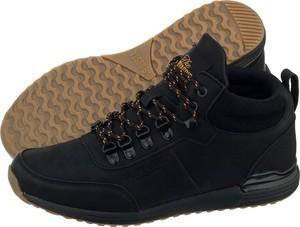 Czarne buty zimowe Bustagrip sznurowane ze skóry