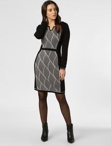 Sukienka comma, w stylu casual z dzianiny w geometryczne wzory
