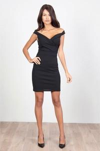Czarna sukienka Special Dresses mini z dekoltem w kształcie litery v