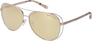 Złote okulary damskie Michael Kors w stylu casual