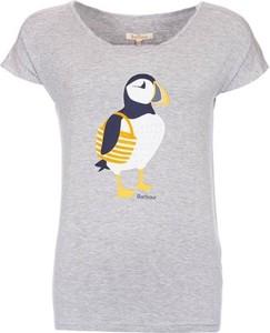 T-shirt Barbour z krótkim rękawem z nadrukiem z bawełny