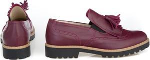 Fioletowe półbuty Zapato z płaską podeszwą