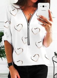 Bluzka Cikelly z dekoltem w kształcie litery v z bawełny
