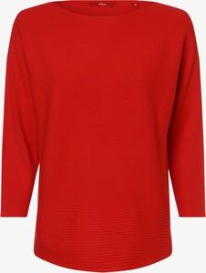 Czerwony sweter S.Oliver w stylu casual