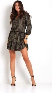 Sukienka Ivon rozkloszowana w stylu boho z dekoltem w kształcie litery v