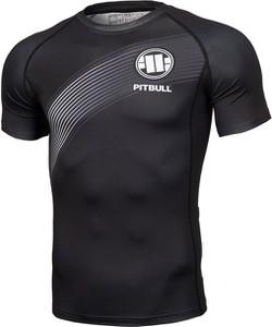 Czarny t-shirt Pit Bull z krótkim rękawem w sportowym stylu