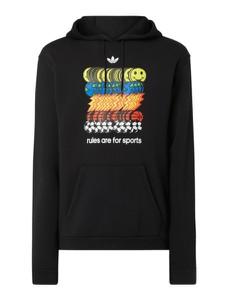 Czarna bluza Adidas Originals z bawełny z nadrukiem