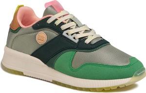 Zielone buty sportowe Scotch & Soda sznurowane