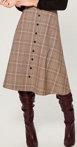 Brązowa spódnica Mohito w stylu casual