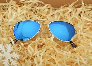 Stylion Okulary dziecięce pilotki lustrzanki niebieskie 484S-1